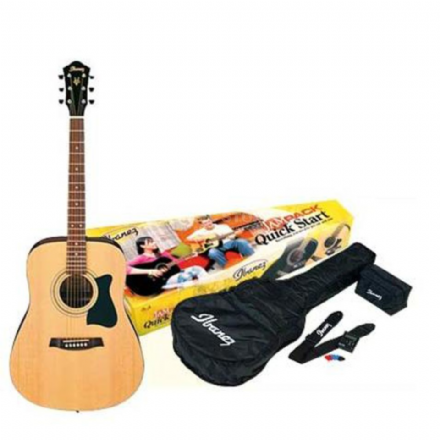 Ibanez V50NJP Jam Pack Natural Acoustic Guitar Pack
